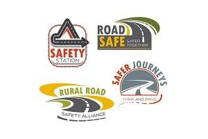 Road highway sign for transportation theme design