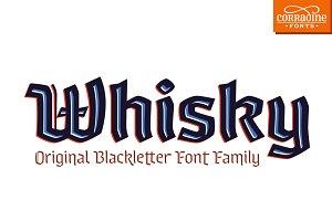 Whisky - A modern blackletter font