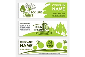 Eco green business banner template design