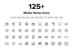 125+ Media Icons