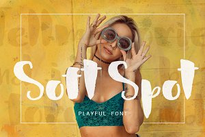 Soft Spot - playful font
