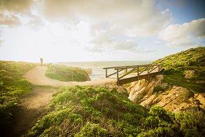 California Ocean Bridge Sunset