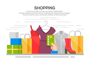 Clothes shopping banner