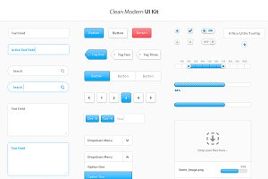 Clean Modern UI Kit (PSD)