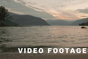 Coast of the Norwegian fjord. Norway. Smooth dolly shot