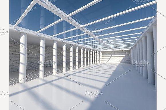 Open area with skylight