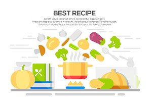 Best recipes concept