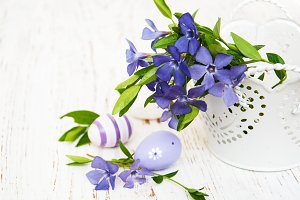 Periwinkle and easter eggs