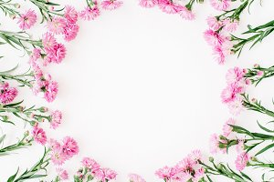 Flowers wreath frame
