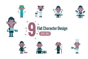 9 Flat character design