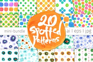 20 Spotted Patterns Bundle