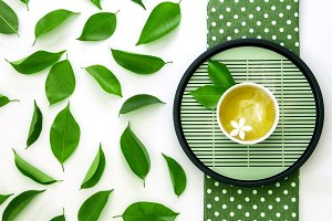 Green tea decoration