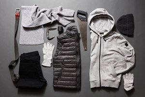 Set men's clothing and accessories