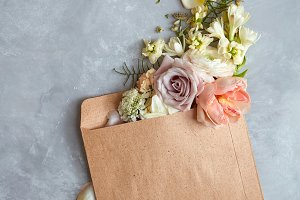 Flowers in envelope