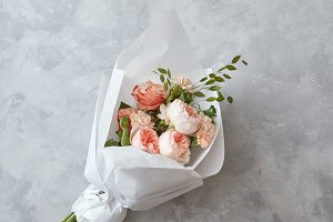 Beautiful peach roses