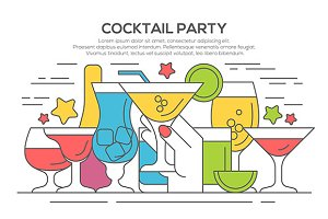 Cocktail party invitation concept