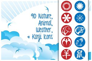 Animal, Nature, & Weather Icons