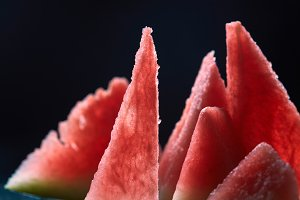 slices of ripe juicy watermelon