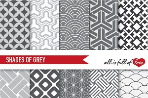 -20% Grey Japan Backgrounds Patterns