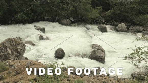River In Norwegian Mountains