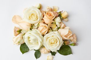 bouquet of beige roses