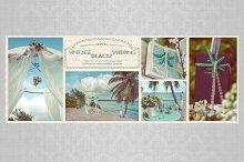bundle: vintage beach wedding