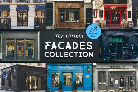 The Ultima Facades Collecti-Graphicriver中文最全的素材分享平台