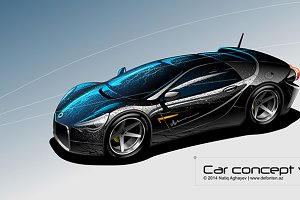Luxury sports car. Original design