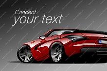 Luxury sports car. Original design
