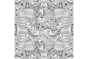 Floral zentangle pattern for wedding invitation