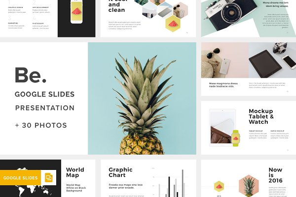 Be. Google Slides Template +30Photo…