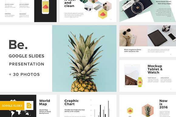 be google slides template 30photos presentation templates