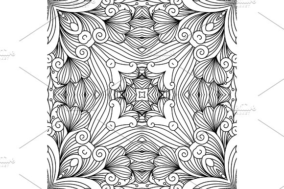 Decorative zentangle swirl pattern