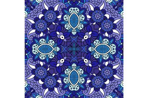 Decorative blue floral ornamental pattern