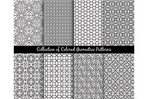 Ethnic decorative oriental patterns set