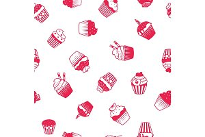 Muffin red and white pattern