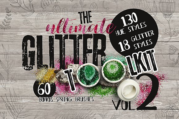 The ultimate Glitter Toolki-Graphicriver中文最全的素材分享平台