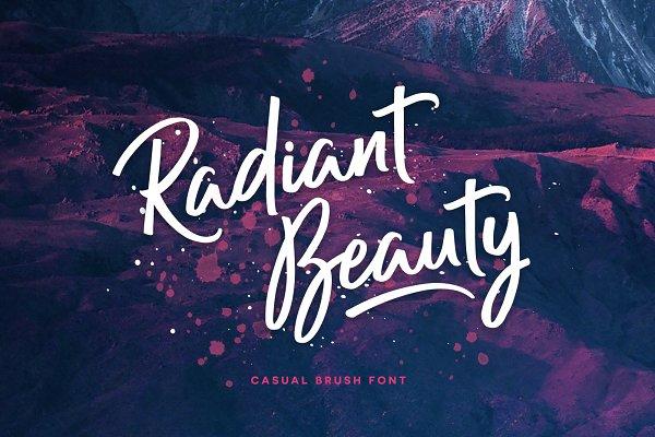 Radiant Beauty - Casual Brush Font