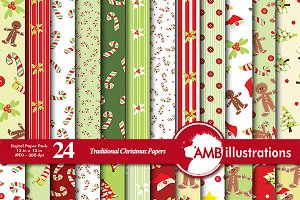 Traditional Christmas Papers AMB-427