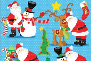 Santa and Friends Clipart AMB-121