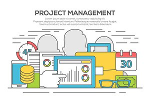 Project management business concept