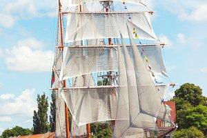 Classic vintage sailboat