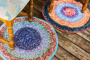 Handmade colorful rugs