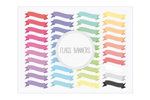 Clip Art-Flags Banners