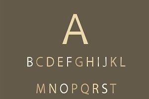 Cream color font flat design VECTOR