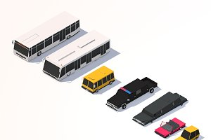 Low Poly City Cars Asset Pack 2