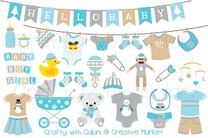 Winter Wonderland Baby Clipart