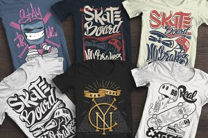 Skate board, t-shirt graphics