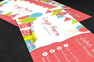 Kids Party Business Card