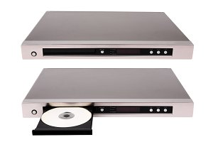 DVD player isolated on white